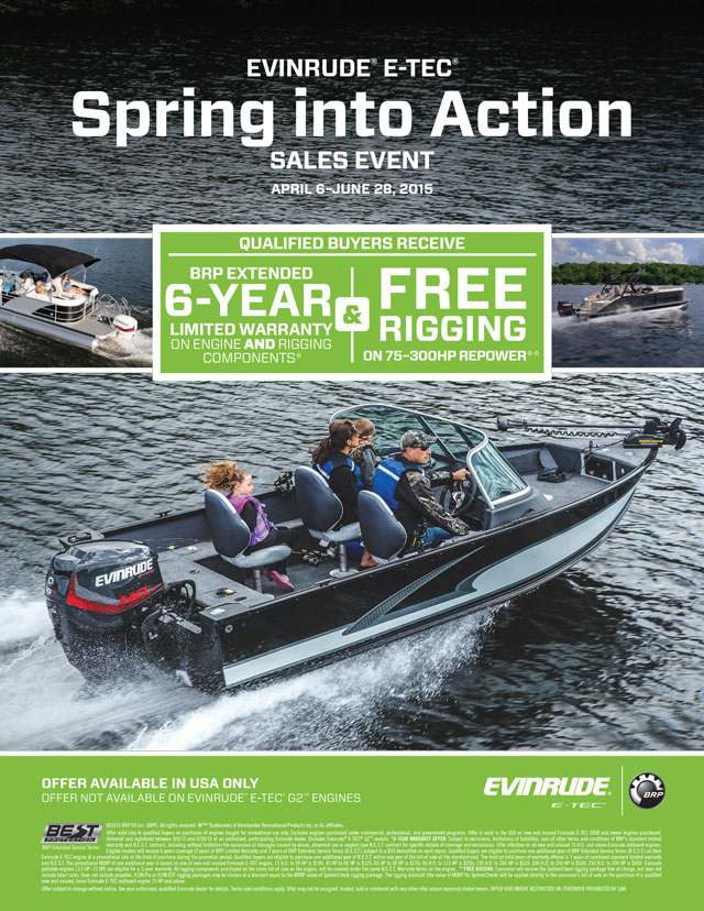 EVINRUDE Spring into Action Promotion - Husted's Landing