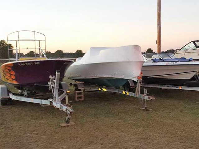 Winterizing boats for winter storage now!