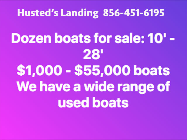 Husted's have Boats for sale